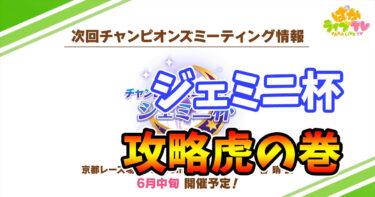 【ウマ娘】京都芝3200m『ジェミニ杯』攻略・虎の巻