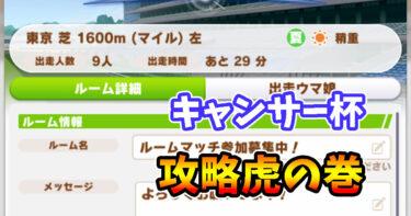 【ウマ娘】東京芝1600m晴稍重(夏)/キャンサー杯攻略・虎の巻